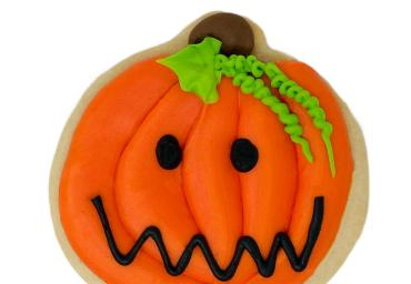 Halloween Jack-O-Lantern Cookie
