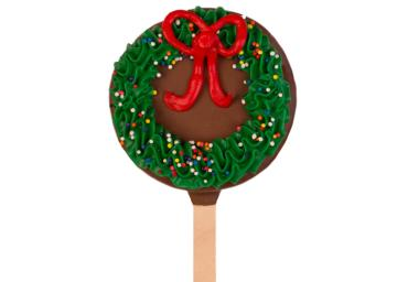 Christmas Wreath Brownie Pop