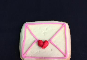 Holiday Decorated Cookie- Love Letter