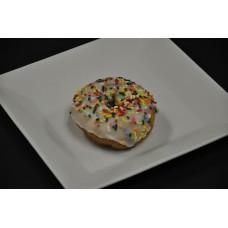 White Sprinkled Donut