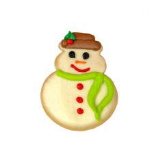 Decorated Christmas Cookie- Snowman