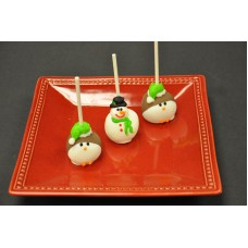 Christmas White Cake Pops