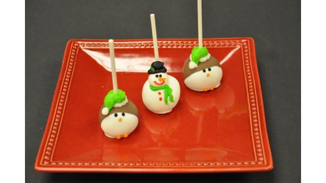 Christmas White Cake Pops