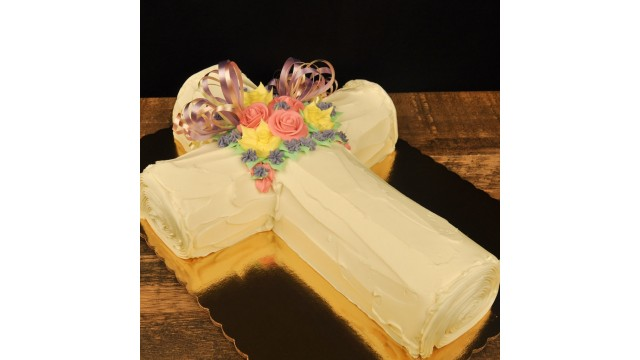 Cross Cake- Vanilla/Raspberry