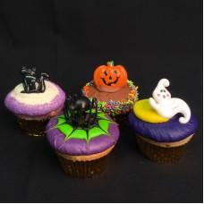 Halloween Chocolate Character Cupcakes