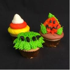 Halloween Decorated Chocolate Cupcakes