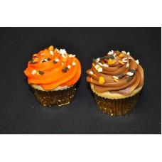 Halloween Chocolate Sprinkle Cupcakes