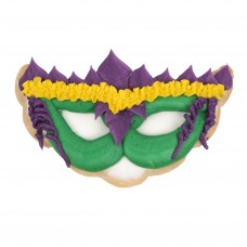 Holiday Decorated Cookie- Mardi Gras Mask