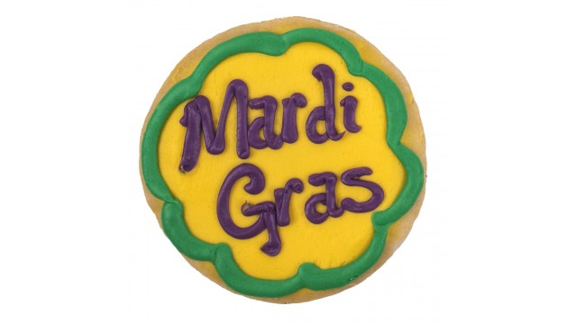 Holiday Decorated Cookie- Mardi Gras Sayings