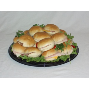 Dollar Bun Sandwich Tray 12""